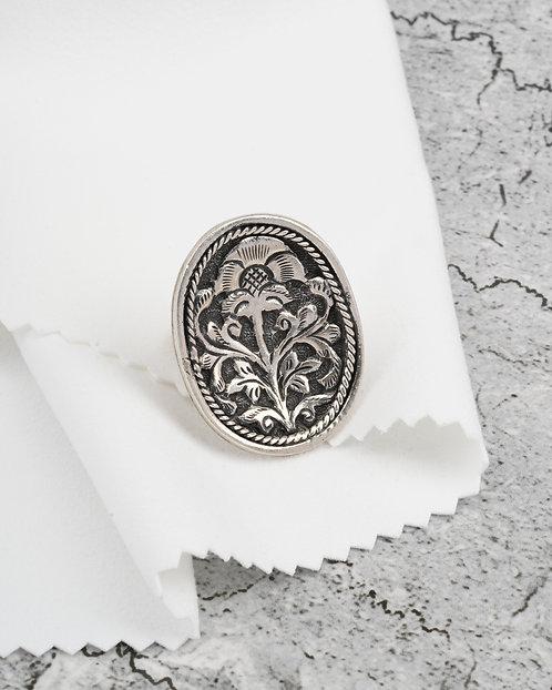 Chitai Work Silver Ring
