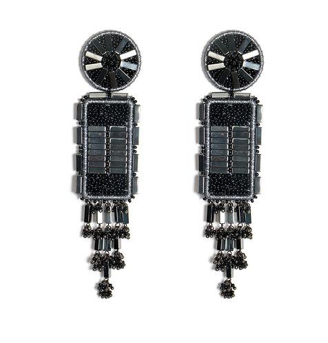Tatva Black Earrings