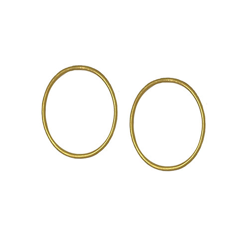 Oval Hoops - Gold