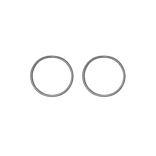 Small Hoops - Silver