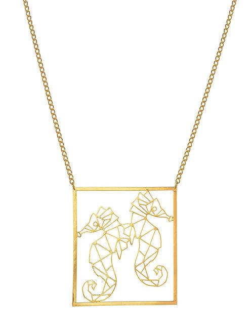 De la mer Seahorse necklace