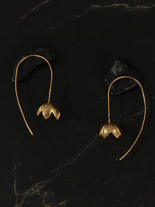 Berserk Gold Plated Delicate Floret Loops