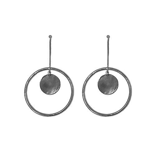 Pendulum Hoops - Silver