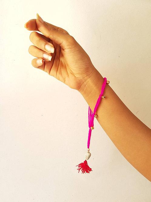Indian Pink Gungru Lumba Rakhi