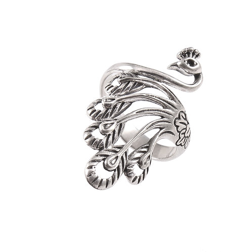 Silver Designer, Peacock Design Ring