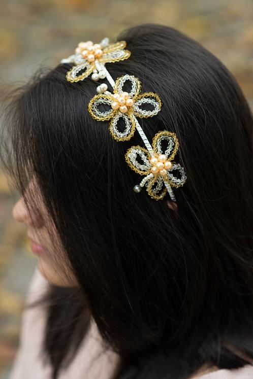 Layla Designer Crystal Butterfly Headband