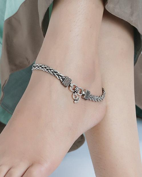 Silver Designer Ghungroo Anklets