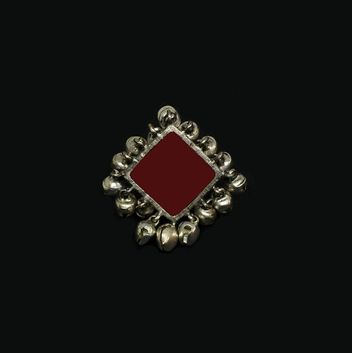 Square ring - marron