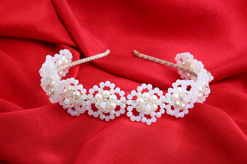 The Olivia Designer Flower Hairband OR Floral Crystal Hairband