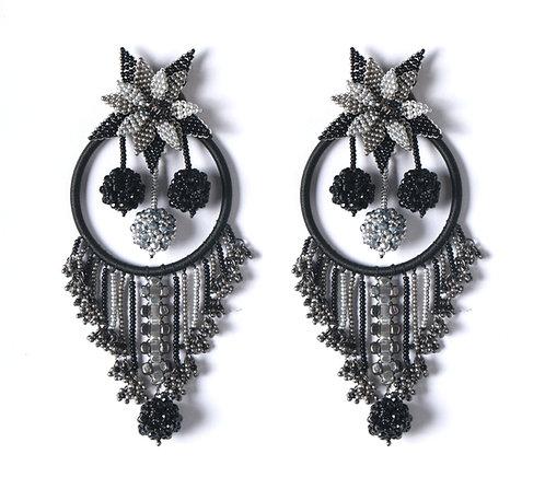 Black Owl Earrings