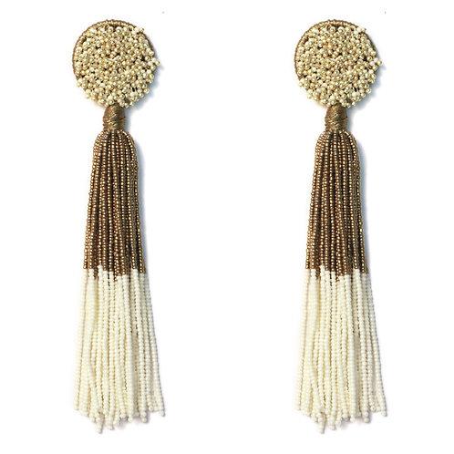 Honey Buff Tassel Earrings