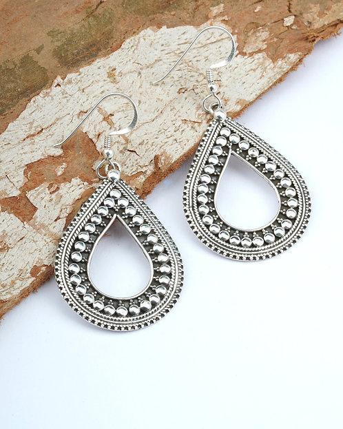 Silver Rawa Tear-Drop Earrings