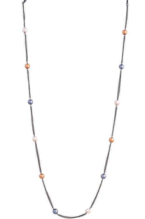 8 mm Double Chain Multi-Pearl BLACK