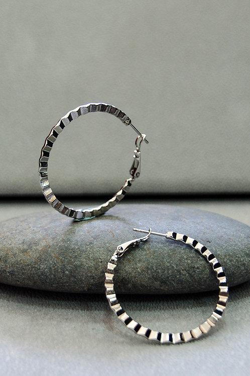 Harriet Silver Hoop Earrings
