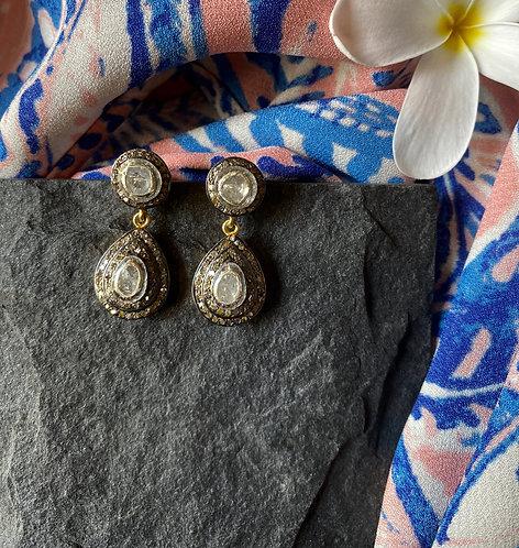 Piccolo Drops Uncut Diamond Earrings