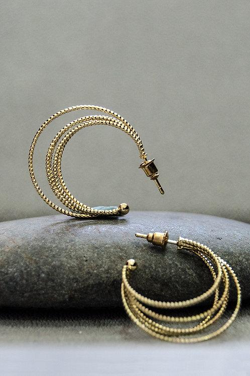 Anika Gold Hoop Earrings