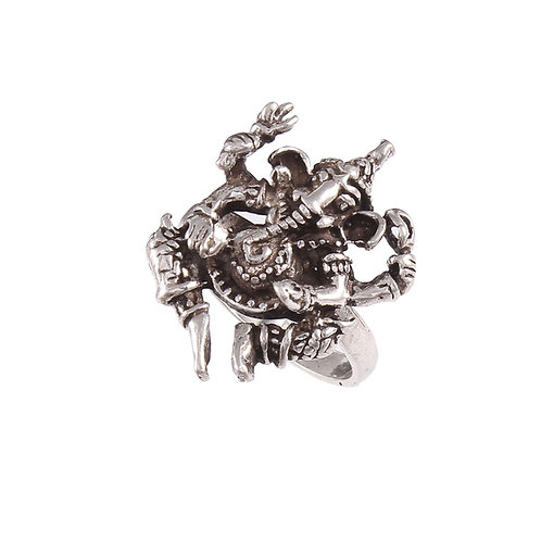 Silver Lord Ganesha Adorable Ring