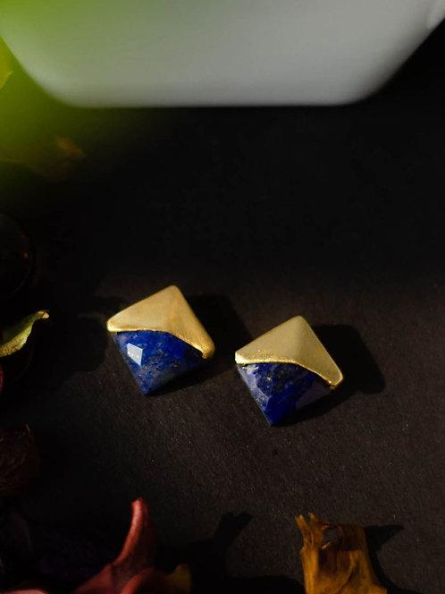 Berserk Gold Plated Lapis Studs