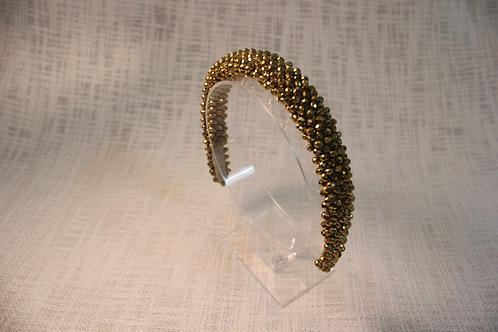 Golden Chrysanthemum Satin Covered Headband
