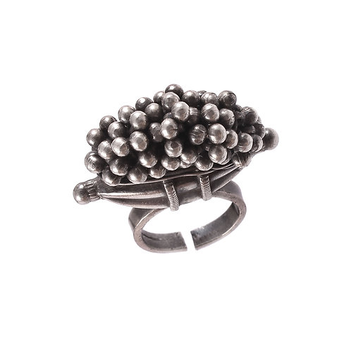 Silver Oxidized, Grapes Ring