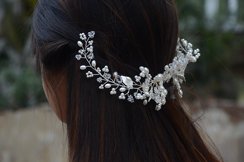 Pearl Silver Hair Wreath