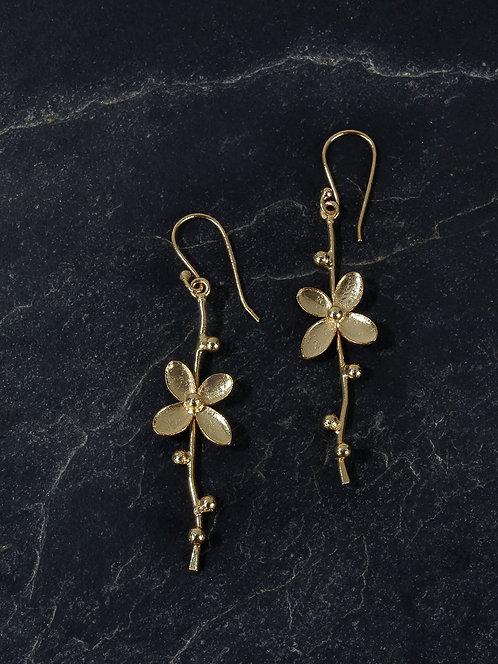 Berserk Gold Plated Floral Vine Loops