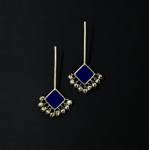 Sqaure enamel sticks - navy blue