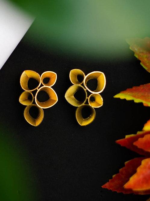 Berserk Gold Plated Teardrops Earrings