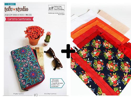 Combo e-book Carteira Sanfonada + Kit completo de materiais