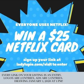 WIN A $25 NETFLIX GIFT CARD