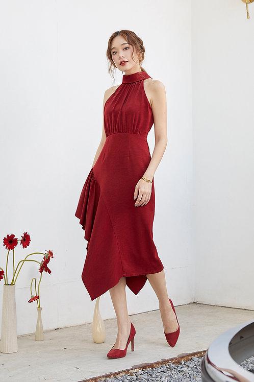 AMELIA DRESS (DEEP RED)