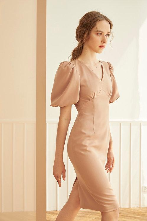 L'AMOUR DRESS (ROSE BEIGE)