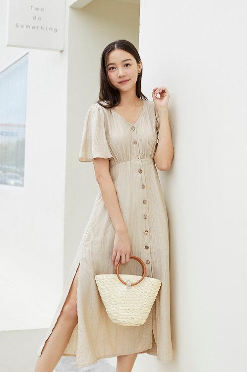 SIENA MAXI DRESS - BEIGE