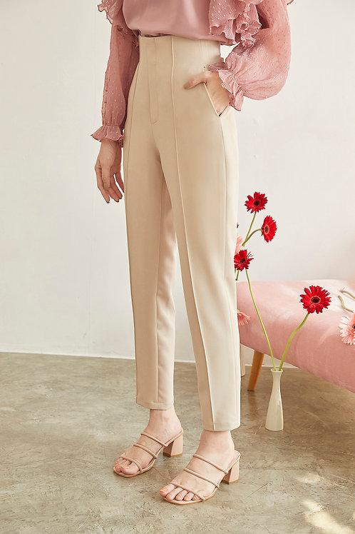 LINDA HIGH WAIST PANTS (CREAM)