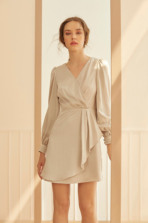 VALENTINA DRESS (LIGHT GREY)