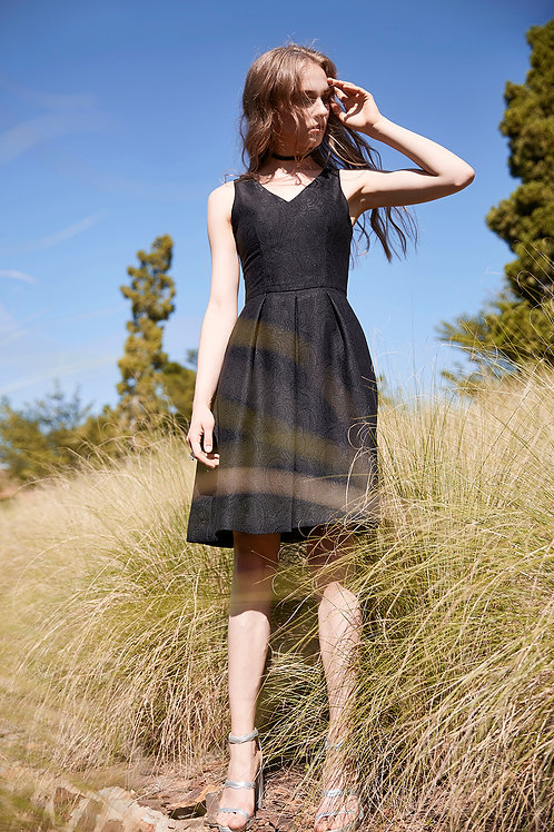 BLACK DROP DRESS