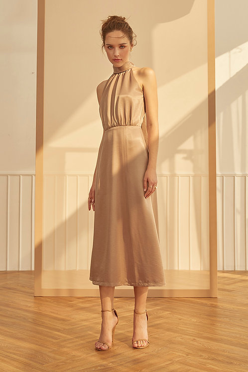 CLAIR DRESS (TAUPE)