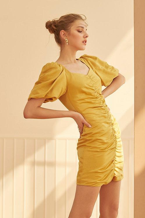 CAMELLIA DRESS (MUSTARD)
