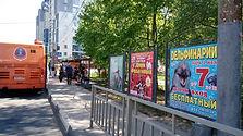 Белинского ул., остановка Студеная, на стороне парка. Афиши РЕКНН.jpg