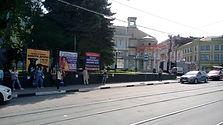 Октябрьская ул., около сквера, напротив д. 18. Афиши РЕКНН.jpg