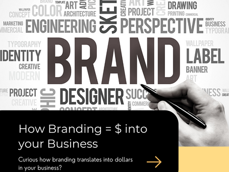 Curious why implementing branding into your business translates into dollars?