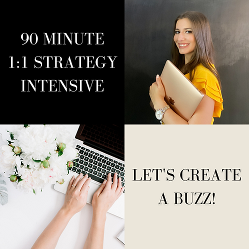 90 Minute 1:1 Strategy Intensive