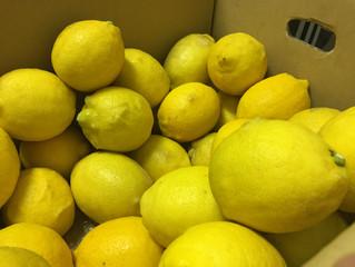レモンの皮むき!