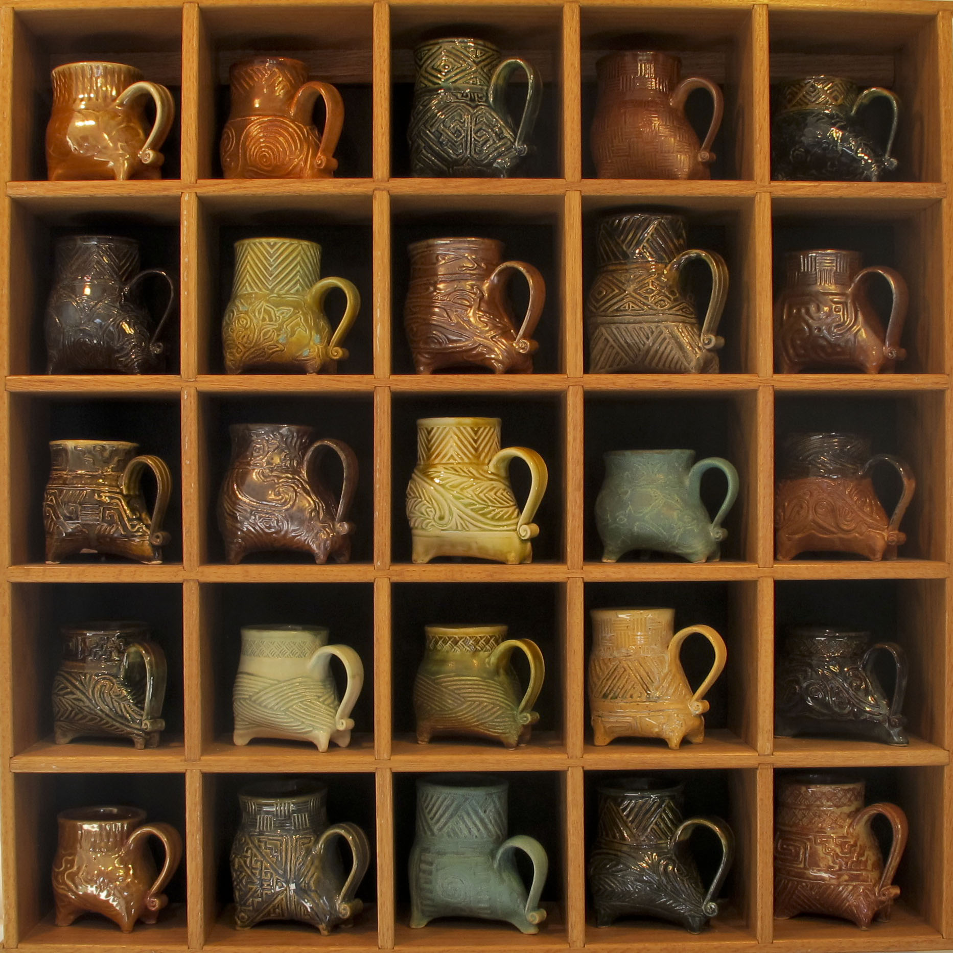 four legged mug display