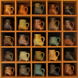 four legged mug display