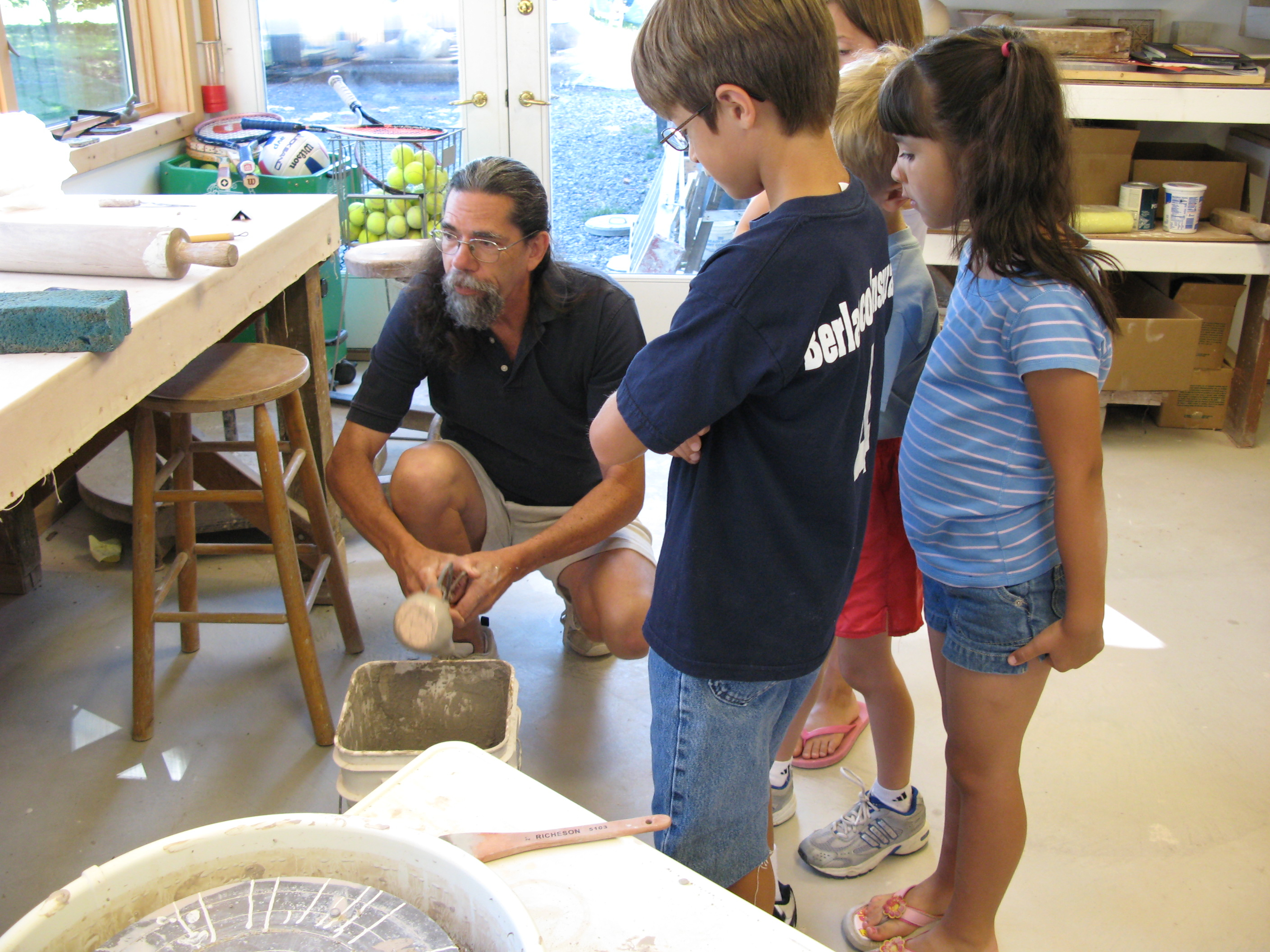 Pottery Camp glazing