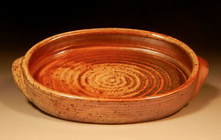 Oval wood fired dish