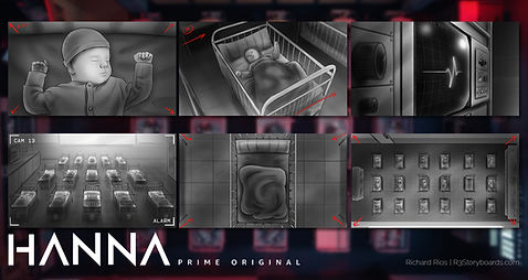 Hanna Amazon Prime Promo Storyboards