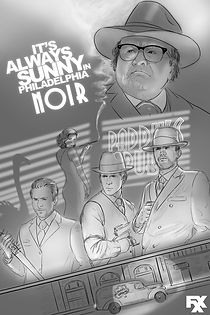 Sketch art sample, its always sunny in philadelphia noir episode. 1940s detective FXX.