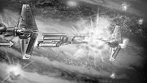 Richard Rios Knights of the old republic storyboard sample. Republic ship, space battle.